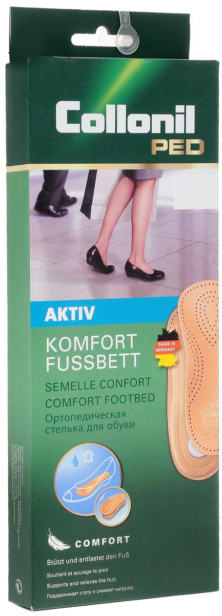 Стельки для обуви Collonil Activ, для профилактики плоскостопия, 2 шт. Размер 43SV3188Стельки Collonil Activ изготовлены из дубленой кожи на жесткой пластиковой основе, повторяющей правильное анатомическое строение стопы. Помогает уменьшить нагрузку на сухожилия и суставы ног. Уравновешивает давление на подошву стопы для максимального комфорта. Количество: 2 шт.