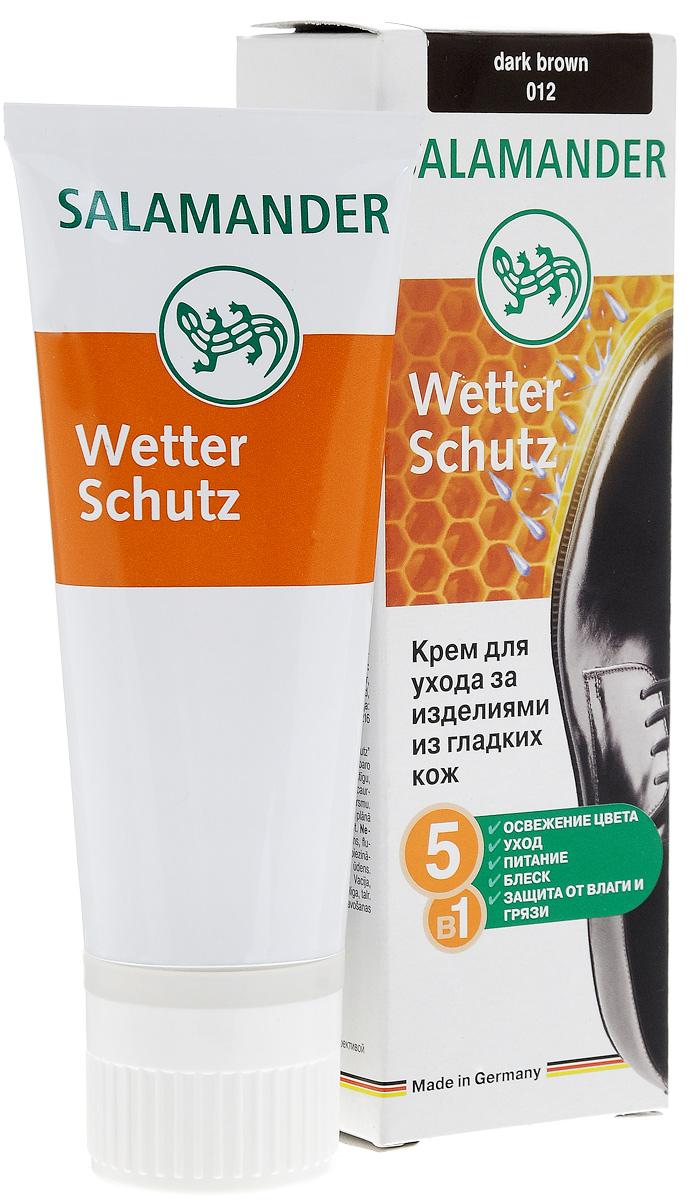Крем Salamander WetterSchutz, для гладкой кожи, цвет: темно-коричневый, 75 мл632088Высококачественный крем Salamander WetterSchutz предназначен для ухода за гладкой кожей обуви. Средство обновляет цвет, интенсивно питает, защищает, сохраняет кожу мягкой и эластичной, придает блеск, а также обладает водоотталкивающим действием.Характеристики:Объем: 75 мл. Цвет: темно-коричневый. Артикул:0 113 012.