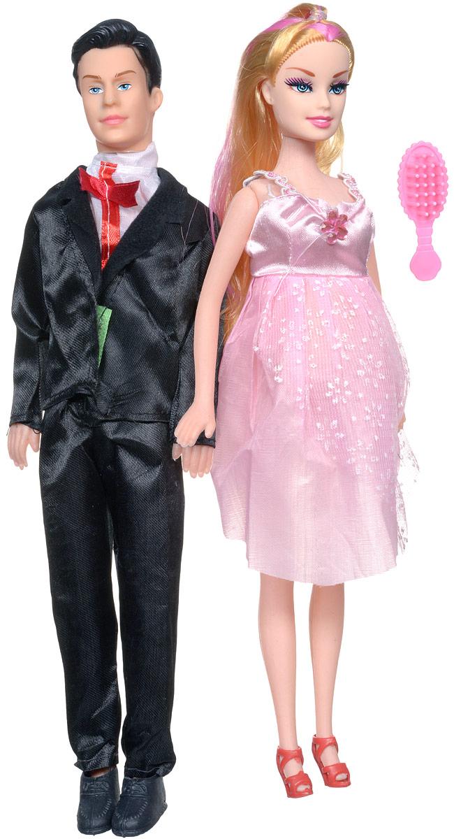Shantou Набор кукол цвет одежды черный розовый 2 шт