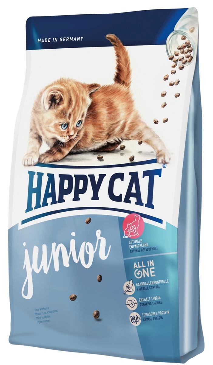 Корм сухой Happy Cat Supreme Junior для котят, 4 кг12171996Сухой корм Happy Cat Supreme Junior - производится на основе многообразной и натуральной рецептуры. Данный корм изготовлен из ценной птицы и лосося и тем самым имеет высокое содержание животного белка, которые составляют минимум 89% из общего содержания протеина, что является важным фактором эволюции из бедокура в сильную кошку.Котятам требуется особенно качественное питание как залог долгой и активной жизни. Для гармоничного роста крайне важен сбалансированный корм, который содержит все необходимое.Состав: птица (29%), кукурузная мука, птичий жир, мясопродукты, рисовая мука, картофельные хлопья, лосось (3,5%), клетчатка, свекольная пульпа, хлорид натрия, сухое цельное яйцо, дрожжи, яблочная пульпа (0,4%), хлорид калия, морские водоросли (0,2%), семя льна (0,2%), Юкка Шидигера (0,04%), корень цикория (0,04%), дрожжи (экстрагированные), расторопша, артишок, одуванчик, имбирь, березовый лист, крапива, ромашка, кориандр, розмарин, шалфей, корень солодки, тимьян (общий объем сухих трав: 0,18%).Аналитический состав: сырой протеин 34%, сырой жир 19%, сырая клетчатка 3,0%, сырая зола 6,5 %, кальций 1,33 %, фосфор 0,85 %, натрий 0,45 %, калий 0,65%, магний 0,07 %, омега - 6 жирные кислоты 3,0 %, омега - 3 жирные кислоты 0,3%.Витамины/кг: витамин A (3а672а) 25000 МE, витамин D3 2000 МЕ, витамин E (альфа-токоферол 3a700) 120 мг, витамин B1 (тиаминмононитрат 3a821) 6 мг, витамин B2 (рибофлавин) 6 мг, витамин B6 (пиридоксингидрохлорид 3a831) 5 мг, D(+) биотин (3a880) 1000 мкг, кальция-D-пантотенат 12 мг, ниацин 60 мг, витамин B12 100 мкг, холинхлорид 75 мг. Антиоксиданты: натуральные экстракты с высоким содержанием токоферола. Микроэлементы/кг: железо 120 мг (сульфат железа (II)), медь 12 мг (сульфат меди (II)), цинк 150 мг (оксид цинка), марганец 30 мг (оксид марганца (II)), йод 2,5 мг (йодат кальция 3b202), селен 0,2 мг (селенит натрия). Аминокислоты/кг: DL-метионин: 4300 мг, таурин (3a370) 1000 мг.Товар сертифицирова