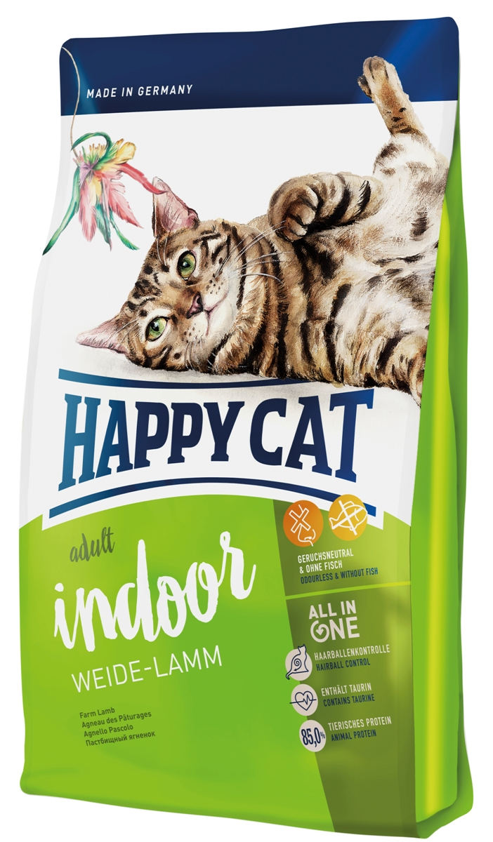 Корм сухой Happy Cat Adult Indoor для кошек с чувствительным пищеварением, пастбищный ягненок, 10 кг00-00000122Корм сухой Happy Cat Adult Indoor содержит легко усваиваемое мясо ягненка иптицы. Этот вкусный рецепт был сделан без рыбы, мидии помогают укрепить суставы кошки и повысить иммунную систему.Новая питательная формула для кошек, характеризуется следующими признаками: контроль комков шерсти, таурина и большим количеством животного белка, рН для мочевыводящих путей, ухода за зубами, омега-3 и 6 жирных кислот для здоровой кожи и шерстью.Состав: птица (22%), рисовая мука, кукурузная мука, кукуруза, мясопродукты, птичий жир, ягненок (8%), картофельные хлопья, клетчатка, свекольная пульпа, сухое цельное яйцо, хлорид натрия, дрожжи, яблочная пульпа (0,4%), хлорид калия, морские водоросли (0,2%), семя льна (0,2%), Юкка Шидигера (0,04%), корень цикория (0,04%), дрожжи (экстрагированные), расторопша, артишок, одуванчик, имбирь, березовый лист, крапива, ромашка, кориандр, розмарин, шалфей, корень солодки, тимьян.Аналитический состав: сырой протеин 32,0%, сырой жир 14,0%, сырая клетчатка 3,0%, сырая зола 7,0%, кальций 1,5%, фосфор 0,95%, натрий 0,45%, калий 0,65%, магний 0,08%, омега - 6 жирные кислоты 2,2%, омега - 3 жирные кислоты 0,25%.Витамины/кг: витамин A (3а672а) 18000 МE, витамин D3 1800 МЕ, витамин E (альфа-токоферол 3a700) 100 мг, витамин B1 (тиаминмононитрат 3a821) 5 мг, витамин B2 (рибофлавин) 6 мг, витамин B6 (пиридоксин-гидрохлорид 3a831) 4 мг, D(+) биотин (3a880) 700 мкг, кальция-D-пантотенат 12 мг, ниацин 45 мг, витамин B12 75 мкг, холинхлорид 75 мг. Антиоксиданты: натуральные экстракты с высоким содержанием токоферола.Микроэлементы/кг: железо 120 мг (сульфат железа (II)), медь 12 мг (сульфат меди (II)), цинк 150 мг (оксид цинка), марганец 30 мг (оксид марганца (II)), йод 2, 5 мг (йодат кальция 3b202), селен 0,2 мг (селенит натрия). Аминокислоты/кг: DL-метионин: 4400 мг, таурин (3a370) 1000 мг.Товар сертифицирован.