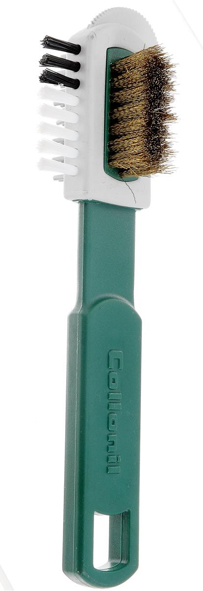 Щетка для замши Collonil Combi Burste, с железным ворсом, цвет: белый54 159921Щетка для чистки нубука и расчесывания замши.