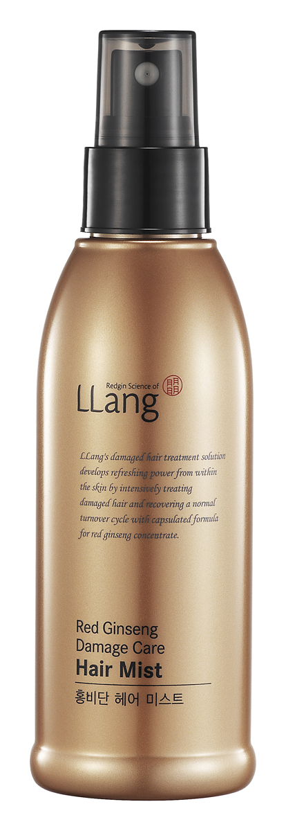 Llang Тоник-мист для поврежденных волос с красным женьшенем, 150 млВБ003Тоник-мист прекрасно увлажняет и тонизирует сухие, поврежденные волосы.Экстракт вытяжки 6-летнего красного женьшеня в составе миста содержит целый комплекс витаминов, аминокислот, эфирных масел, благотворно влияющих на здоровье волос, волосы становятся блестящими, мягкими и шелковистыми.Тоник-мист может применяться как на сухие, так и на влажные волосы. Использование миста после мытья волос защитит их от агрессивного влияния сухого воздуха фена при сушке, а также укладки волос щипцами для завивки и пр.Тоник-мист станет отличным дополнительным увлажняющим средством по уходу за волосами в межсезонье, когда волосы становятся более уязвимыми к неблагоприятному воздействию окружающей среды и резким изменениям климатических условий.