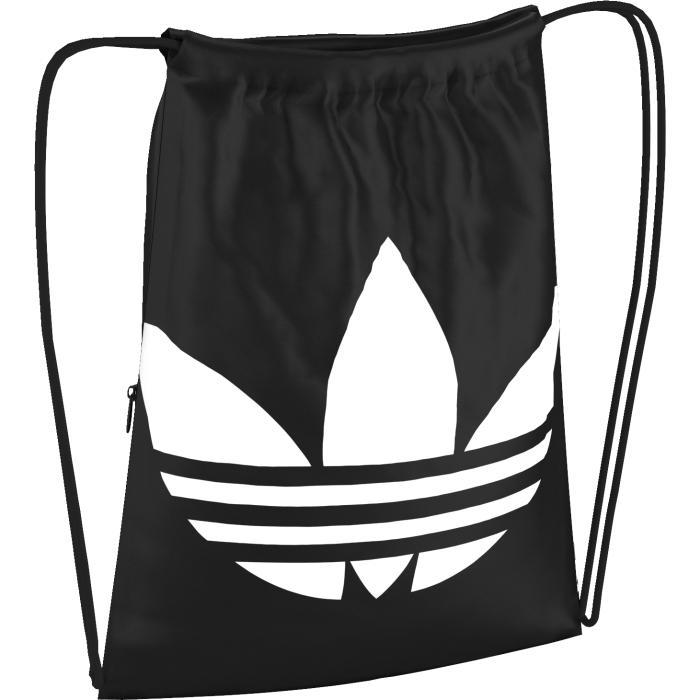 Рюкзак adidas trefoil, цвет: черный. AJ8986ГризлиРюкзак adidas trefoil с крупным трилистником выполнен из текстиля. Модель с затягивающимися завязками-шнурками, который превращаются в веревочные лямки.