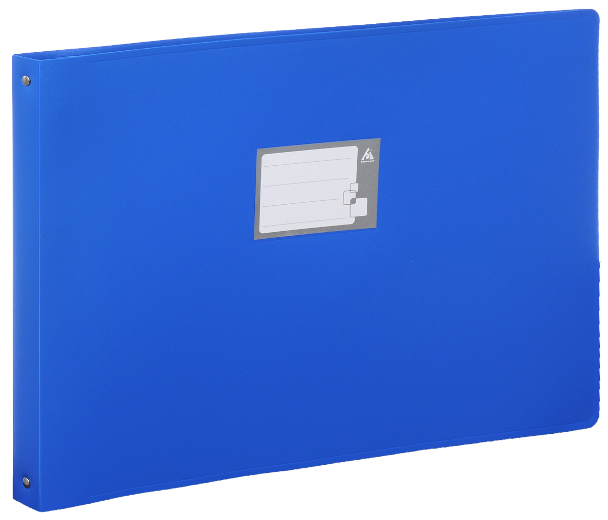 Бюрократ Папка на 4-х кольцах цвет синий 816570FS-36052Надежная папка-уголок Бюрократ станет для вас незаменимым помощником в учебных или офисных делах.Папка-уголок формата А3 изготовлена из износоустойчивого пластика и предназначена хранения различных документов. Она оснащена 4 металлическими кольцами, которые позволят надежно закрепить все нужные документы. На обложке можно написать информацию о владельце или о содержимом папки. Такая папка всегда будет сохранять ваши документы в опрятном и чистом виде.