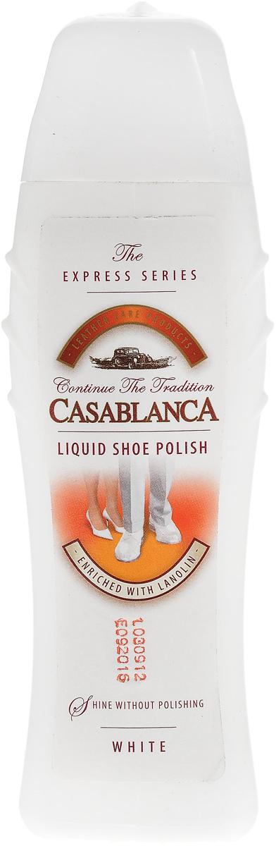 Жидкий блеск для обуви Casablanca белыйSS 4041Мгновенное придание блеска одним движением. Отлично смягчает кожу, благодаря новой формуле, обогащенной ланолином и воском. Высококачественные элементы создают надежный защитный слой.
