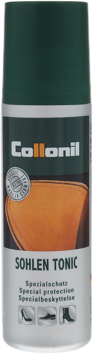 Пропитка для кожаной подошвы Collonil Sohlen Tonic, 75 мл1592 050Пропитка Collonil Sohlen Tonic - жидкое средство для ухода за кожаной подошвой обуви. Средство пропитывает кожаную подошву, делает ее прочнее, предотвращает попадание влаги с подошвы на верхний слой кожи, сохраняет дыхательную способность кожи. Использование средства повышает износостойкость обуви.