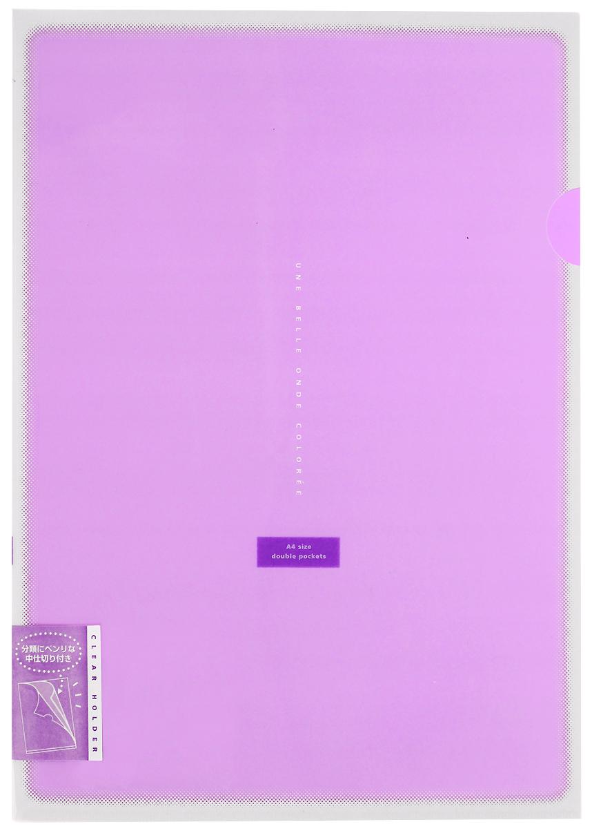 Kokuyo Папка-уголок Coloree цвет фиолетовыйC13S041944Папка-уголок Kokuyo Coloree подойдет для хранения документов и тетрадей как для офисного работника, так и для студента или школьника. По форме это обычная папка-уголок формата А4, но она имеет вставки на 2 кармана и вмещает в себя гораздо больше различных документов, чем папка с одним карманом.Папка изготовлена из качественного пластика, поэтому она всегда будет сохранять все ваши документы в чистом и опрятном виде.