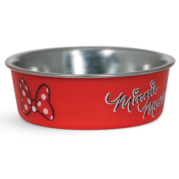 Миска для животных Triol Disney. Minnie, 450 мл0120710Металлическая миска с пластиковым покрытием. Резиновое кольцо в основании миски препятствует ее скольжению во время использования.