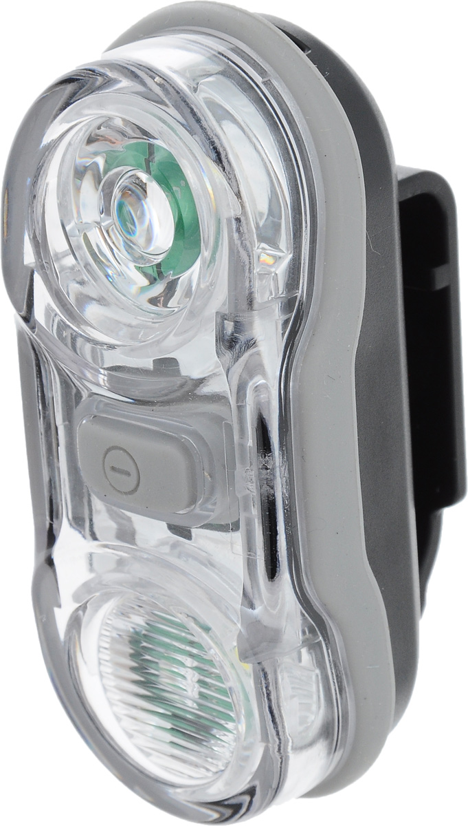 Фонарь велосипедный D-Light CG-405W, габаритный, передний, цвет: черный, серый7292Передний габаритный велофонарь D-Light CG-405W предназначен для обеспечения большей безопасности при поездках в темное время суток. Он легко крепится и снимается без дополнительных инструментов. Корпус изделия выполнен из прочного пластика. Фонарь имеет 3 режима: мигание и 2 яркости свечения. Он водонепроницаем, оснащен 2 светодиодами мощностью по 0,5 Вт.Фонарь питается от 2 батарей типа AAA (входят в комплект).Время свечения в разных режимах: 6+ ч и 12 ч.Время мигания: 17+ ч.Размер фонаря (без учета креплений): 7,5 х 3,1 х 2,7 см.