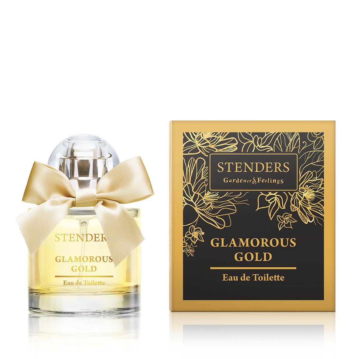 Stenders Туалетная вода Glamorous Gold, 50 мл28032022Этот чарующий, роскошный аромат раскрывается утонченными восточными нотками, которые переплетаются с бодрящими, фруктовыми нотками в сердце аромата. А глубину аромату придают бархатистый древесный аромат и нотки мускуса, создавая ощущение великолепия и совершенства.