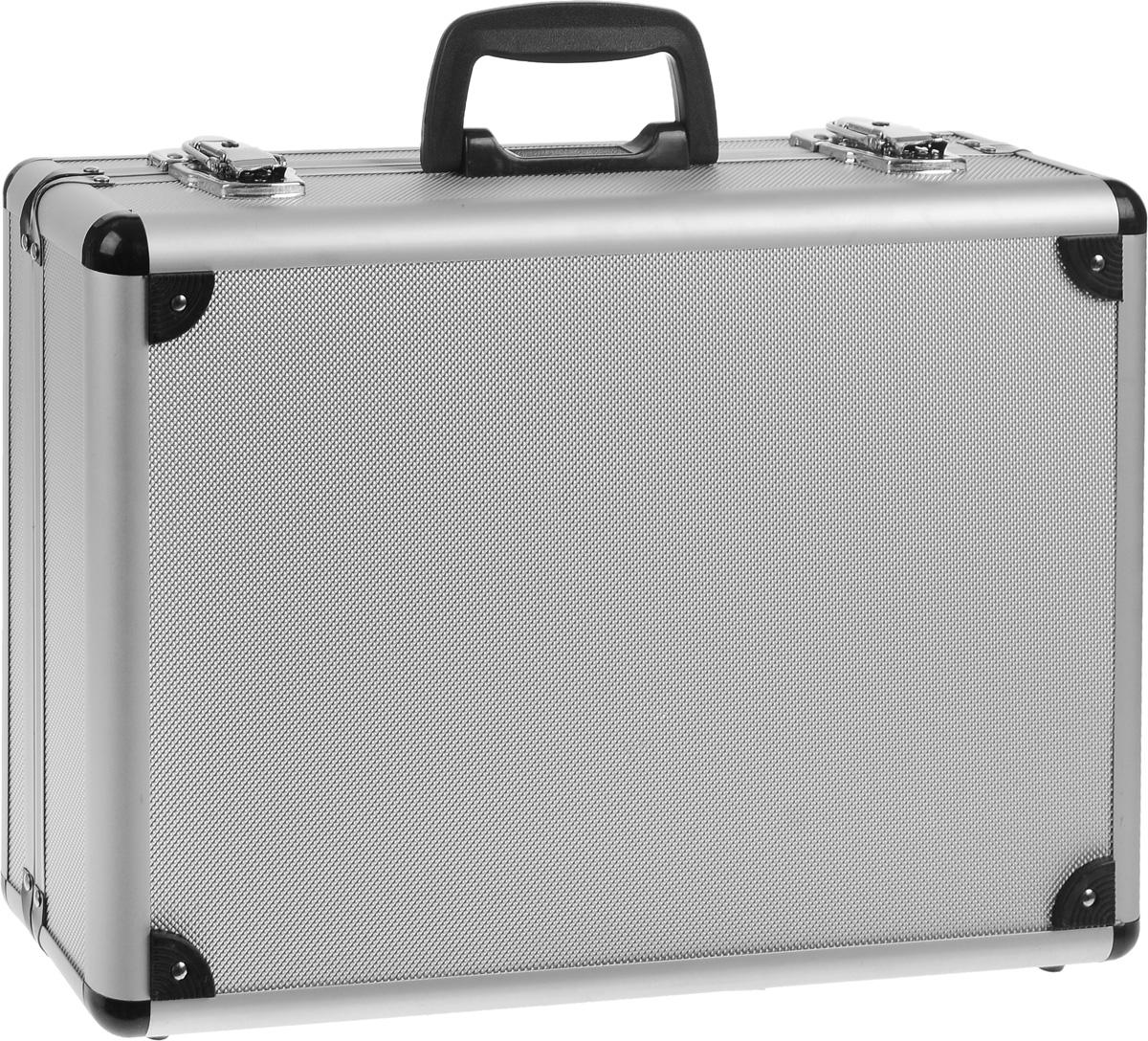 Ящик для инструмента FIT, алюминиевый, 43 х 31 х 13 см98293777Ящик для инструментов FIT изготовлен из алюминия. Внутренние перегородки - переставные, что позволяет изменять пространство ящика по своему усмотрению. Отделка выполнена из мягкого пористого материала, что обеспечивает более бережное хранение инструмента.