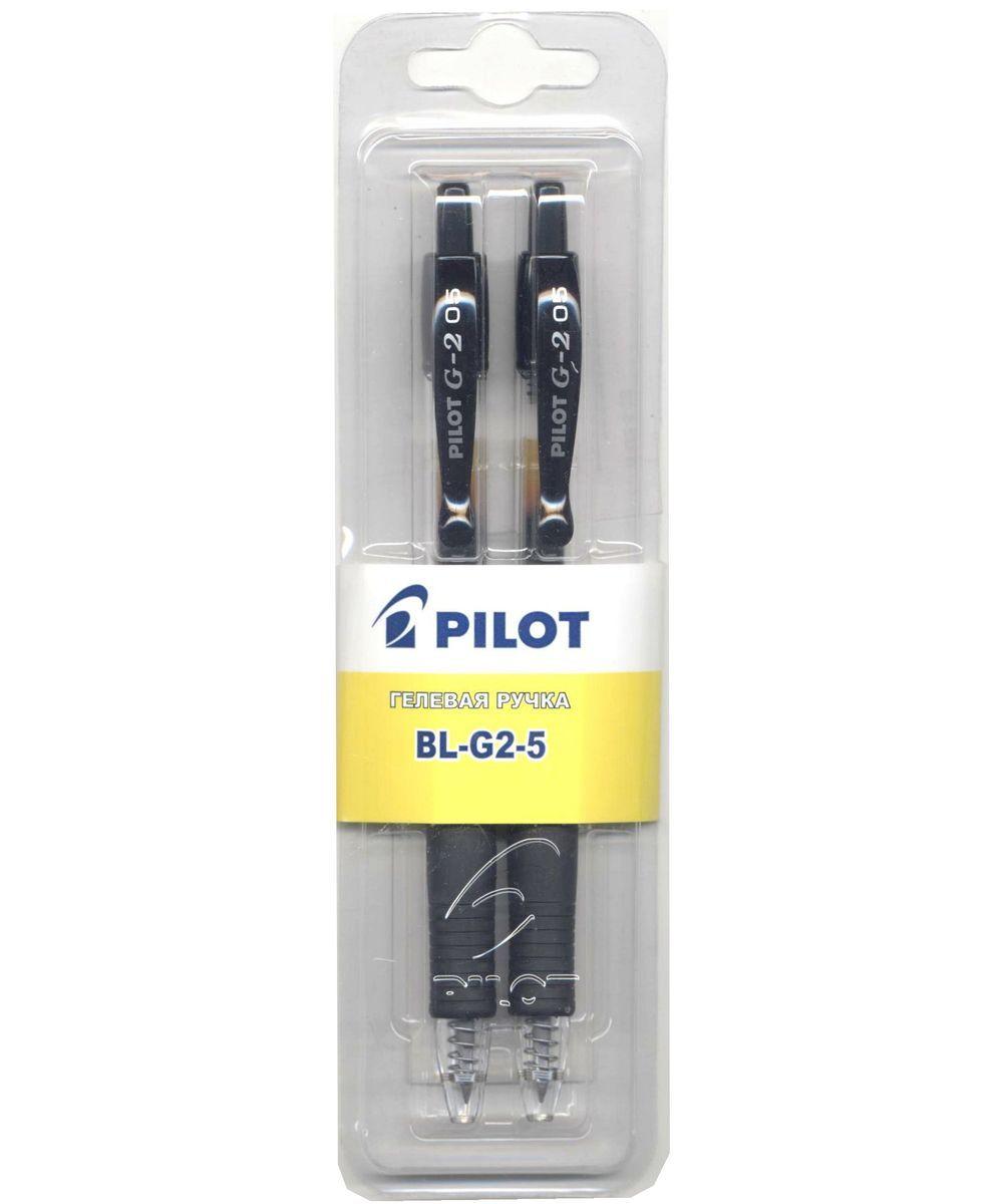 Pilot Набор гелевых ручек BL-G2-5 цвет черный 2 шт305 404042Набор гелевых ручек Pilot BL-G2-5 - незаменимый предмет на любом рабочем столе. Корпус ручек выполнен из прочного прозрачного пластика.Автоматическая шариковая ручка с гелевым типом чернил имеет резиновый упор для пальцев, что обеспечивает комфорт и удобство при письме. Стержень имеет шарик из карбида вольфрама диаметром 0,5 мм, ширина линии - 0,3 мм. Такая ручка обеспечит четкий цвет и мягкое письмо.В наборе 3 ручки.