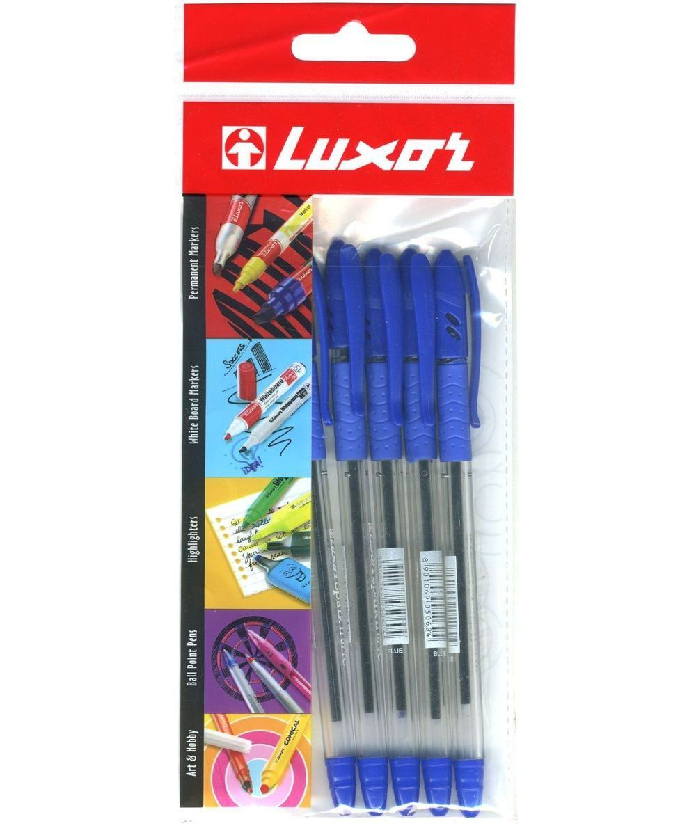 Luxor Набор шариковых ручек Spark ll Stars цвет чернил синий 5 шт305 103050Набор шариковых ручек Luxor Spark ll Stars - незаменимый предмет на любом рабочем столе. Корпус ручек выполнен из прочного прозрачного пластика.Шариковая ручка имеет резиновый упор для пальцев, что обеспечивает комфорт и удобство при письме. Колпачок дополнен прищепкой. Ширина линии - 0,5 мм. Такая ручка обеспечит четкий цвет и мягкое письмо.В наборе 5 ручек.