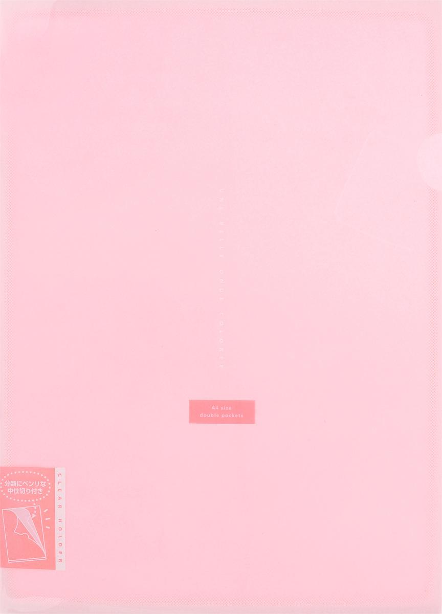 Kokuyo Папка-уголок Coloree цвет розовый61102/B/TGПапка-уголок Kokuyo Coloree подойдет для хранения документов и тетрадей как для офисного работника, так и для студента или школьника. По форме это обычная папка-уголок формата А4, но она имеет вставки на 2 кармана и вмещает в себя гораздо больше различных документов, чем папка с одним карманом.Папка изготовлена из качественного пластика, поэтому она всегда будет сохранять все ваши документы в чистом и опрятном виде.