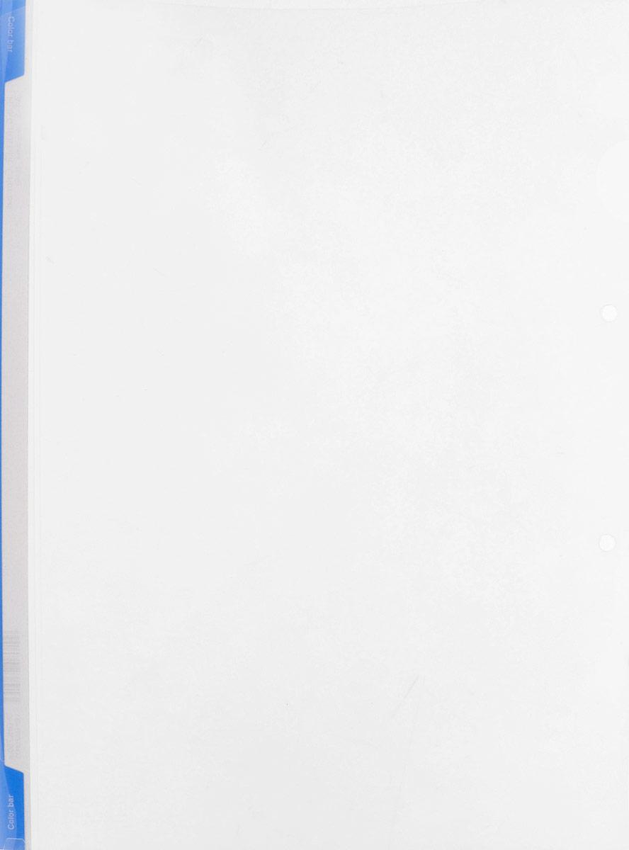 Kokuyo Папка-уголок цвет прозрачный голубойFS-36054Папка-уголок Kokuyo подойдет для хранения документов и тетрадей как для офисного работника, так и для студента или школьника.Папка формата А4 изготовлена из качественного пластика, имеет длинный корешок для указания необходимой информации, а также два отверстия для подшивания в папки-скоросшиватели или папки на кольцах.