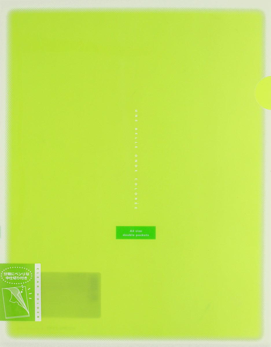 Kokuyo Папка-уголок Coloree цвет светло-зеленый86562Папка-уголок Kokuyo Coloree подойдет для хранения документов и тетрадей как для офисного работника, так и для студента или школьника. По форме это обычная папка-уголок формата А4, но она имеет вставки на 2 кармана и вмещает в себя гораздо больше различных документов, чем папка с одним карманом.Папка изготовлена из качественного пластика, поэтому она всегда будет сохранять все ваши документы в чистом и опрятном виде.