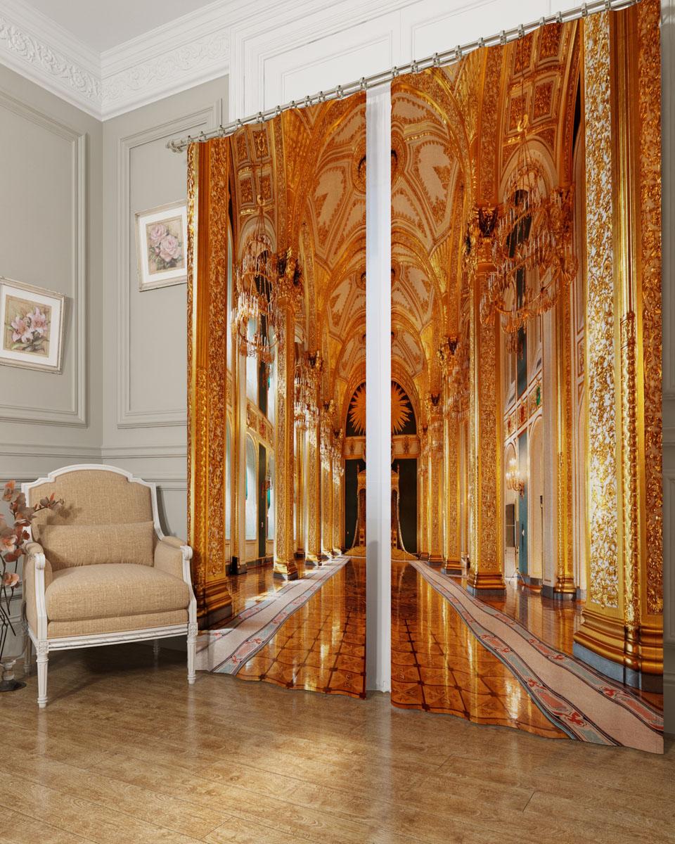 Комплект фотоштор Сирень Тронный зал, на ленте, высота 260 см1004900000360Фотошторы Сирень Тронный зал, выполненные из блэкаута, отлично дополнят украшение любого интерьера. Блэкаут - это трехслойная светонепроницаемая ткань - 100% полиэстер, по структуре напоминает плотный хлопок, очень мягкий,с небольшим сероватым оттенком из-за черной нити, входящей в состав ткани. Блэкаут не требует особого ухода, хорошо драпируется. Пропускает солнечные лучи не более 5%. Крепление на карниз при помощи шторной ленты на крючки. В комплекте 2 шторы. Ширина одного полотна: 145 см.Высота штор: 260 см.Рекомендации по уходу: стирка при 30 градусах, гладить при температуре до 110 градусов.Изображение на мониторе может немного отличаться от реального.