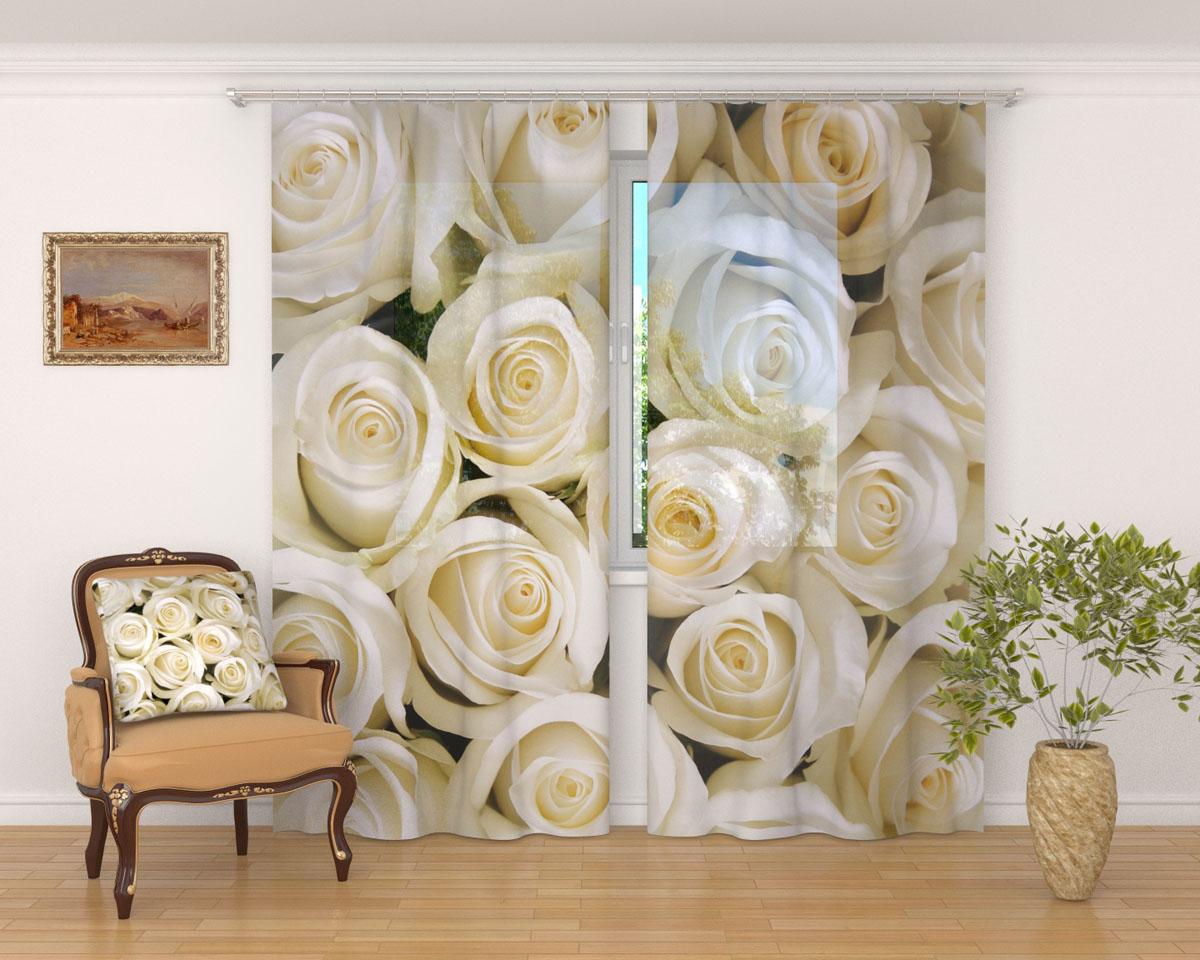 Комплект фототюлей Сирень Душистые розы, на ленте, высота 260 см1004900000360Фототюль Сирень Душистые розы из легкой парящей ткани - вуали - благодаря своей прозрачности позволяет создать в комнате уютную атмосферу, отлично дополняет украшение любого окна. Ткань хорошо держит форму, не требует специального ухода. Яркая и чёткая картинка будет радовать вас каждый день.Крепление на карниз при помощи шторной ленты на крючки.В комплекте: 2 тюля.Ширина полотна: 145 см.Высота полотна: 260 см. Рекомендации по уходу: стирка при 30 градусах, гладить при температуре до 110 градусов.Изображение на мониторе может немного отличаться от реального.