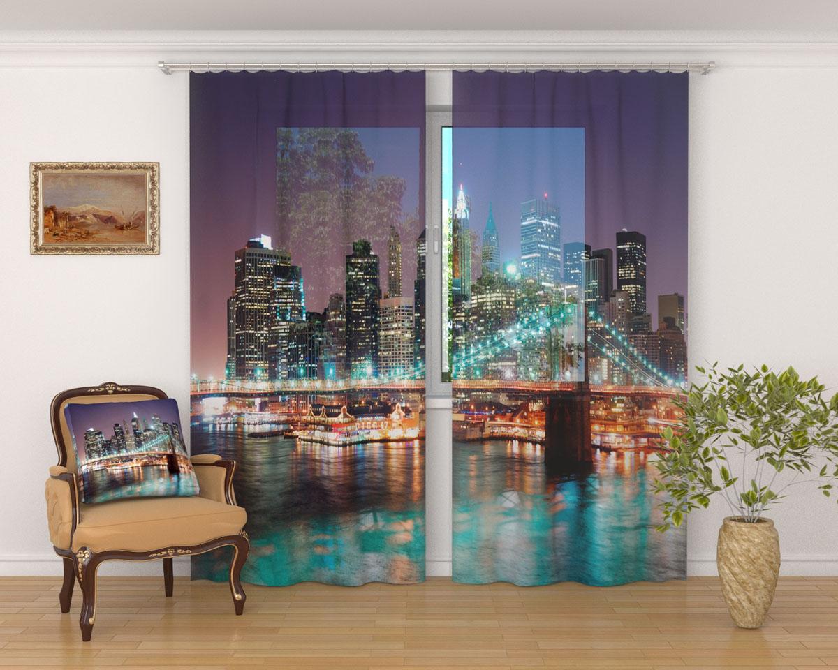 Комплект фототюлей Сирень Панорама Нью-Йорка, на ленте, высота 260 смS03301004Фототюль Сирень Панорама Нью-Йорка из легкой парящей ткани - вуали - благодаря своей прозрачности позволяет создать в комнате уютную атмосферу, отлично дополняет украшение любого окна. Ткань хорошо держит форму, не требует специального ухода. Яркая и чёткая картинка будет радовать вас каждый день.Крепление на карниз при помощи шторной ленты на крючки.В комплекте: 2 тюля.Ширина полотна: 145 см.Высота полотна: 260 см. Рекомендации по уходу: стирка при 30 градусах, гладить при температуре до 110 градусов.Изображение на мониторе может немного отличаться от реального.