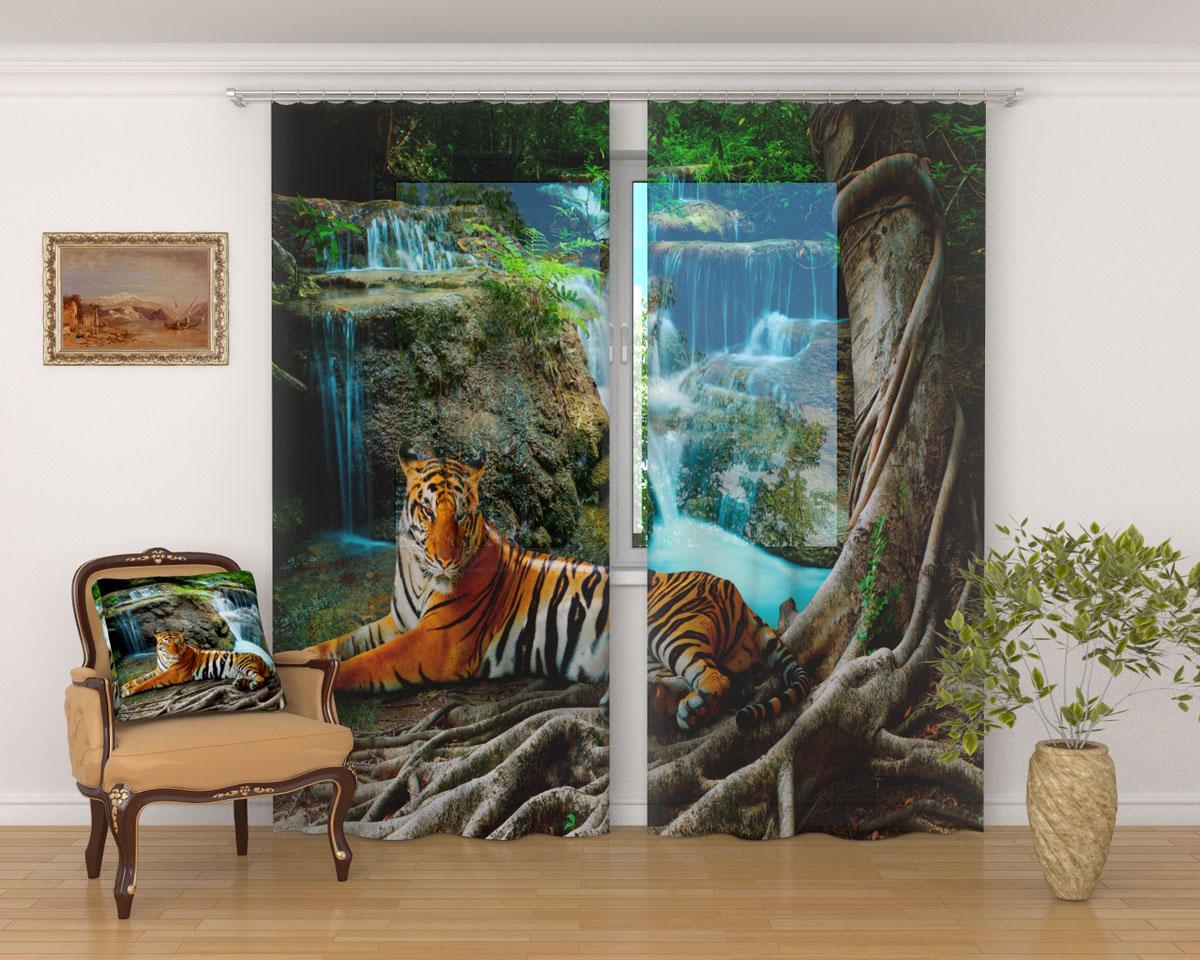 Комплект фототюлей Сирень Индийский тигр, на ленте, высота 260 см1004900000360Фототюль Сирень Индийский тигр из легкой парящей ткани - вуали - благодаря своей прозрачности позволяет создать в комнате уютную атмосферу, отлично дополняет украшение любого окна. Ткань хорошо держит форму, не требует специального ухода. Яркая и чёткая картинка будет радовать вас каждый день.Крепление на карниз при помощи шторной ленты на крючки.В комплекте: 2 тюля.Ширина полотна: 145 см.Высота полотна: 260 см. Рекомендации по уходу: стирка при 30 градусах, гладить при температуре до 110 градусов.Изображение на мониторе может немного отличаться от реального.