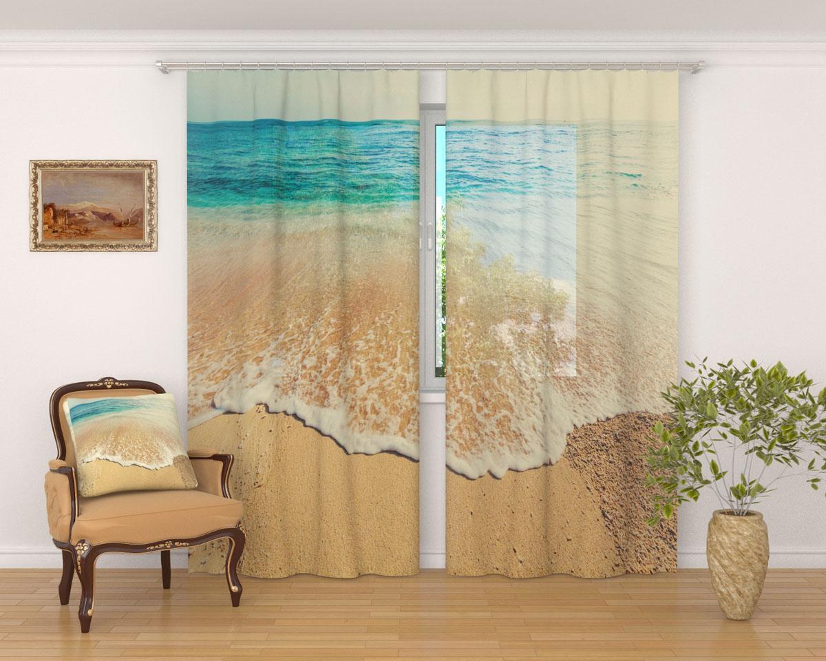 Комплект фототюлей Сирень Дикий пляж, на ленте, высота 260 смPANTERA SPX-2RSФототюль Сирень Дикий пляж из легкой парящей ткани - вуали - благодаря своей прозрачности позволяет создать в комнате уютную атмосферу, отлично дополняет украшение любого окна. Ткань хорошо держит форму, не требует специального ухода. Яркая и чёткая картинка будет радовать вас каждый день.Крепление на карниз при помощи шторной ленты на крючки.В комплекте: 2 тюля.Ширина полотна: 145 см.Высота полотна: 260 см. Рекомендации по уходу: стирка при 30 градусах, гладить при температуре до 110 градусов.Изображение на мониторе может немного отличаться от реального.