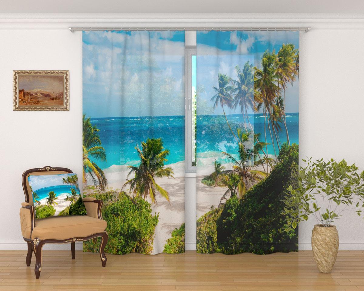 Комплект фототюлей Сирень Пляж у виллы, на ленте, высота 260 смKGB GX-3Фототюль Сирень Пляж у виллы из легкой парящей ткани - вуали - благодаря своей прозрачности позволяет создать в комнате уютную атмосферу, отлично дополняет украшение любого окна. Ткань хорошо держит форму, не требует специального ухода. Яркая и чёткая картинка будет радовать вас каждый день.Крепление на карниз при помощи шторной ленты на крючки.В комплекте: 2 тюля.Ширина полотна: 145 см.Высота полотна: 260 см. Рекомендации по уходу: стирка при 30 градусах, гладить при температуре до 110 градусов.Изображение на мониторе может немного отличаться от реального.