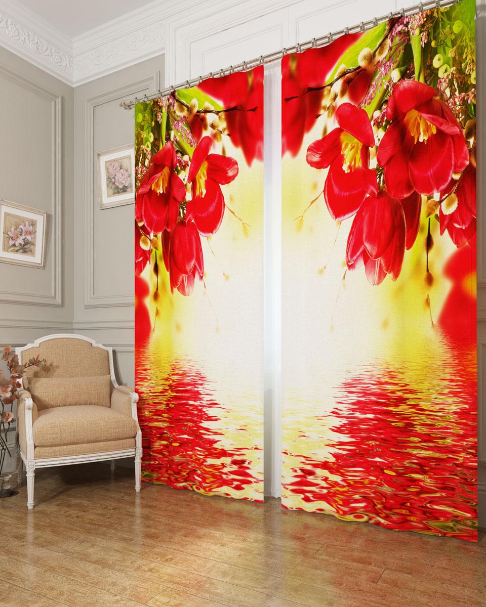 Комплект фотоштор Сирень Букет с красными цветами, на ленте, высота 260 смDAVC150Фотошторы Сирень Букет с красными цветами, выполненные из блэкаута, отлично дополнят украшение любого интерьера. Блэкаут - это трехслойная светонепроницаемая ткань - 100% полиэстер, по структуре напоминает плотный хлопок, очень мягкий,с небольшим сероватым оттенком из-за черной нити, входящей в состав ткани. Блэкаут не требует особого ухода, хорошо драпируется. Пропускает солнечные лучи не более 5%. Крепление на карниз при помощи шторной ленты на крючки. В комплекте 2 шторы. Ширина одного полотна: 145 см.Высота штор: 260 см.Рекомендации по уходу: стирка при 30 градусах, гладить при температуре до 110 градусов.Изображение на мониторе может немного отличаться от реального.