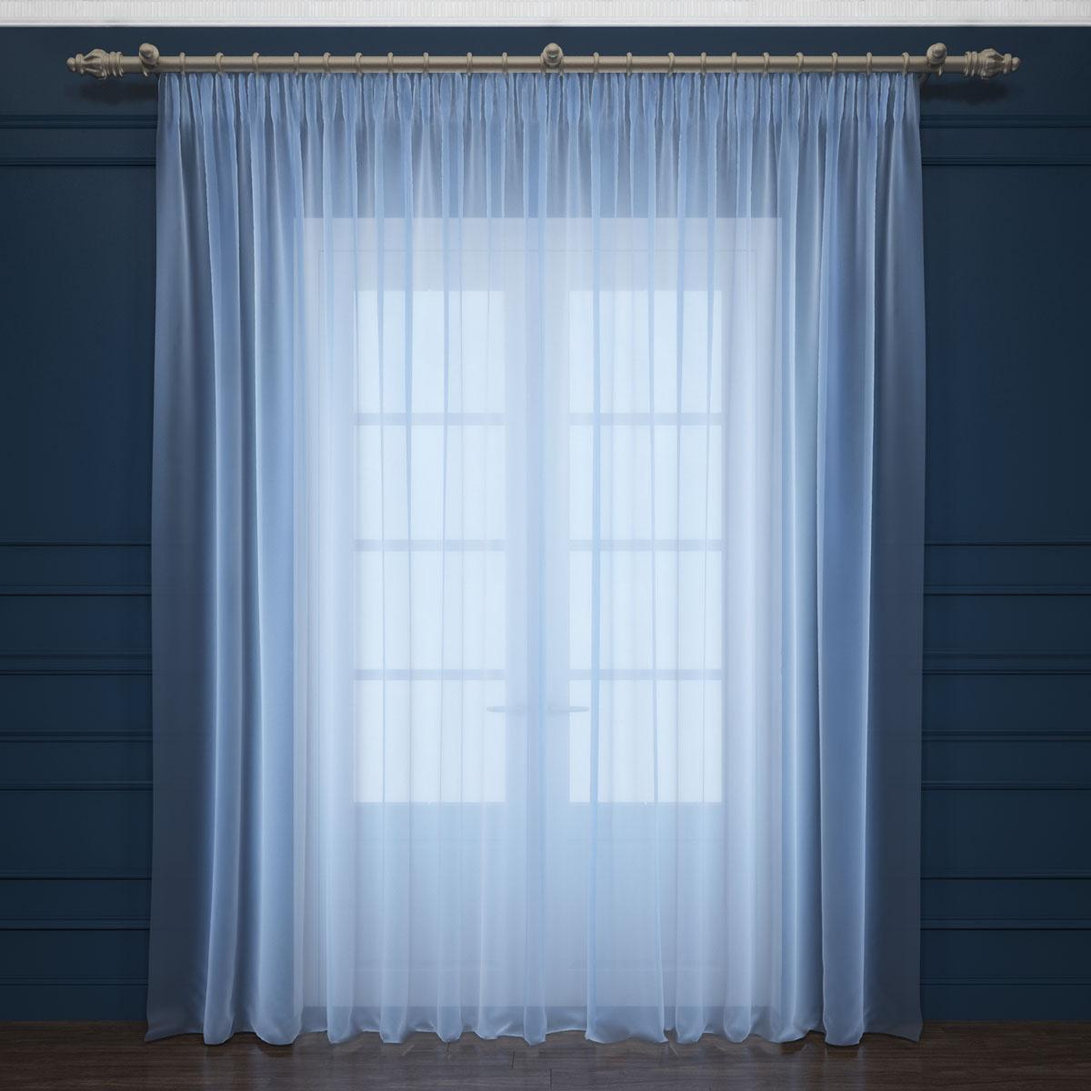 Тюль Сирень, на ленте, цвет: голубой, высота 260 смK100Тюль Сирень из легкой парящей ткани - вуали - благодаря своей прозрачности позволяет создать в комнате уютную атмосферу, отлично дополняет украшение любого окна. Ткань хорошо держит форму, не требует специального ухода. Крепление на карниз при помощи шторной ленты на крючки.Рекомендации по уходу: стирка при 30 градусах, гладить при температуре до 110 градусов.Изображение на мониторе может немного отличаться от реального.