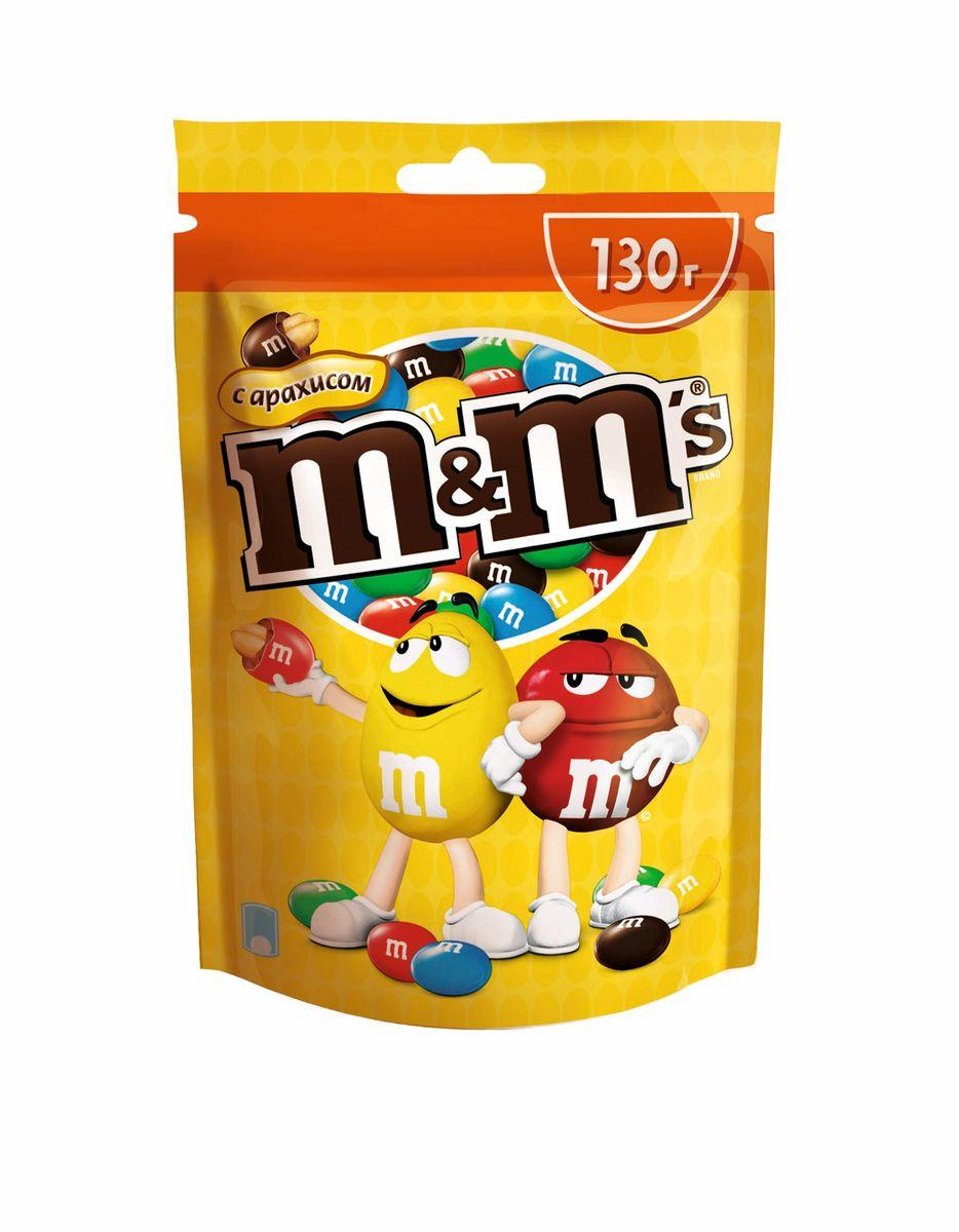 M&Ms Драже с арахисом, 130 г0120710Драже M&Ms с арахисом - это больше веселых моментов для вас и ваших друзей! Разноцветные драже можно съесть самому или разделить с друзьями. В любом случае, вкус отличного молочного шоколада и арахиса подарит вам удовольствие и радость.
