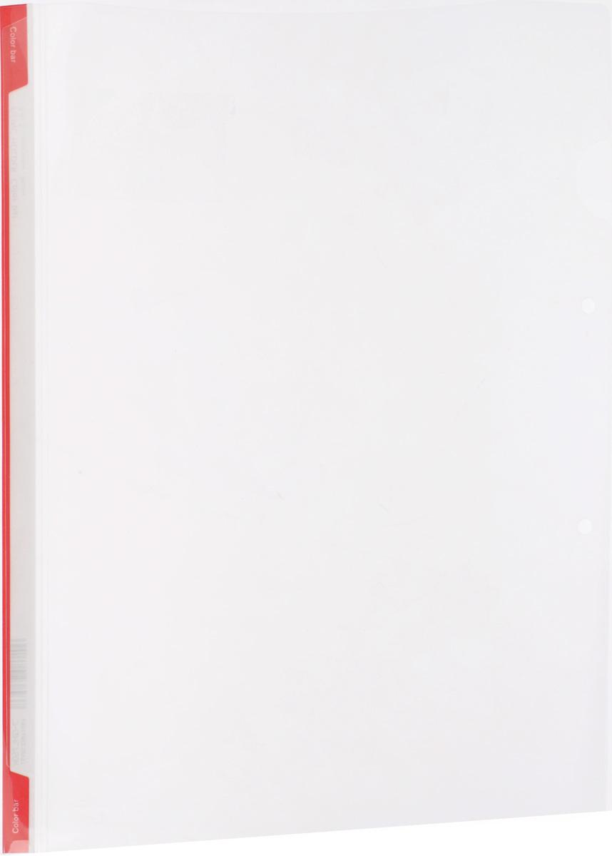 Kokuyo Папка-уголок цвет прозрачный красный990312Папка-уголок Kokuyo подойдет для хранения документов и тетрадей как для офисного работника, так и для студента или школьника.Папка формата А4 изготовлена из качественного пластика, имеет длинный корешок для указания необходимой информации, а также два отверстия для подшивания в папки-скоросшиватели или папки на кольцах.
