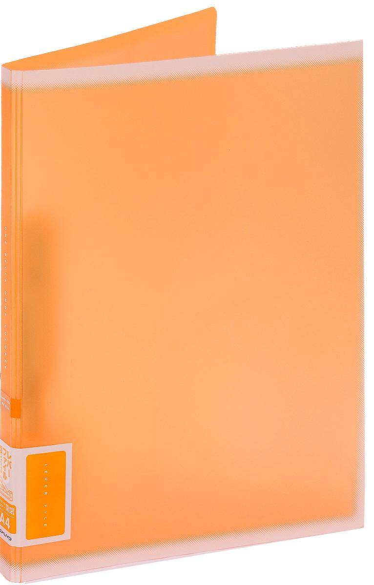 Kokuyo Папка c зажимом Coloree цвет оранжевый84Папка с зажимом Kokuyo Coloree предназначена для хранения документов и тетрадей. Она подойдет как для офисного работника, так и для студента или школьника. По форме это обычная папка формата А4, но она имеет прочный пластиковый зажим, который надежно зафиксирует ваши бумаги.Папка изготовлена из качественного пластика и всегда будет сохранять все ваши документы в чистом и опрятном виде.