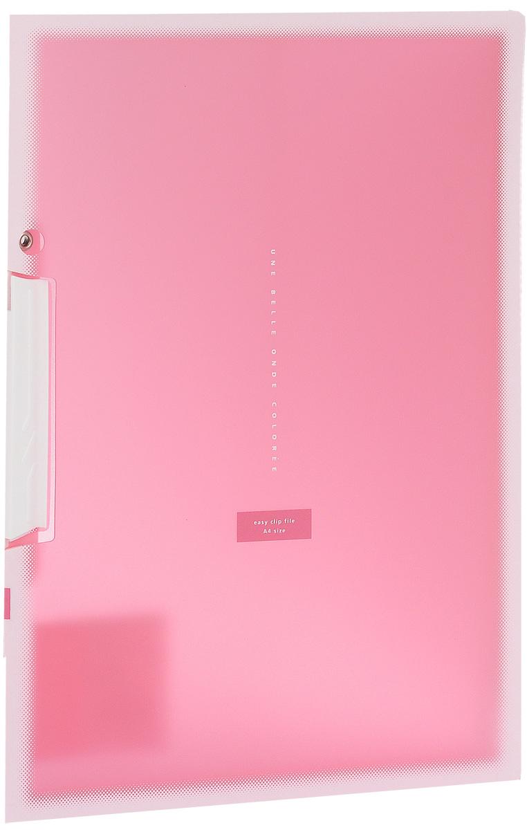 Kokuyo Папка с клипом Coloree цвет розовыйFS-36052Папка с поворотным зажимом Kokuyo Coloree предназначена для хранения документов и тетрадей. Она подойдет как для офисного работника, так и для студента или школьника. По форме это обычная папка формата А4, но она имеет прочный пластиковый зажим, который надежно зафиксирует ваши документы.Папка изготовлена из качественного пластика и всегда будет сохранять ваши документы в чистом и опрятном виде.