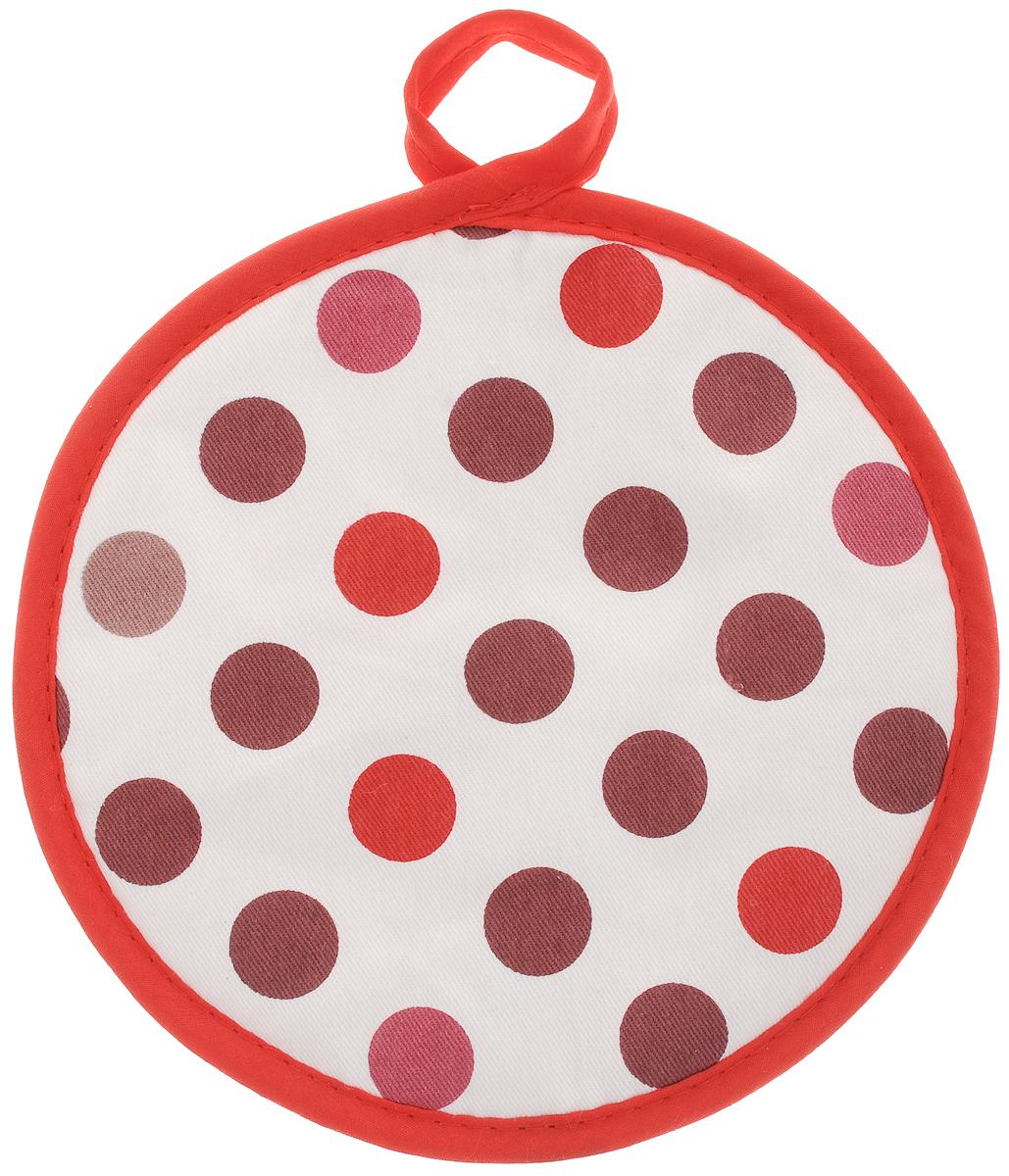 Прихватка Bonita Конфетти, диаметр 18 смVT-1520(SR)Прихватка Bonita выполнена из натурального хлопка и декорирована оригинальным рисунком. Изделие оснащено специальной петелькой, за которую его можно подвесить на крючок в любом удобном для вас месте. Такая прихватка красиво дополнит интерьер кухни.
