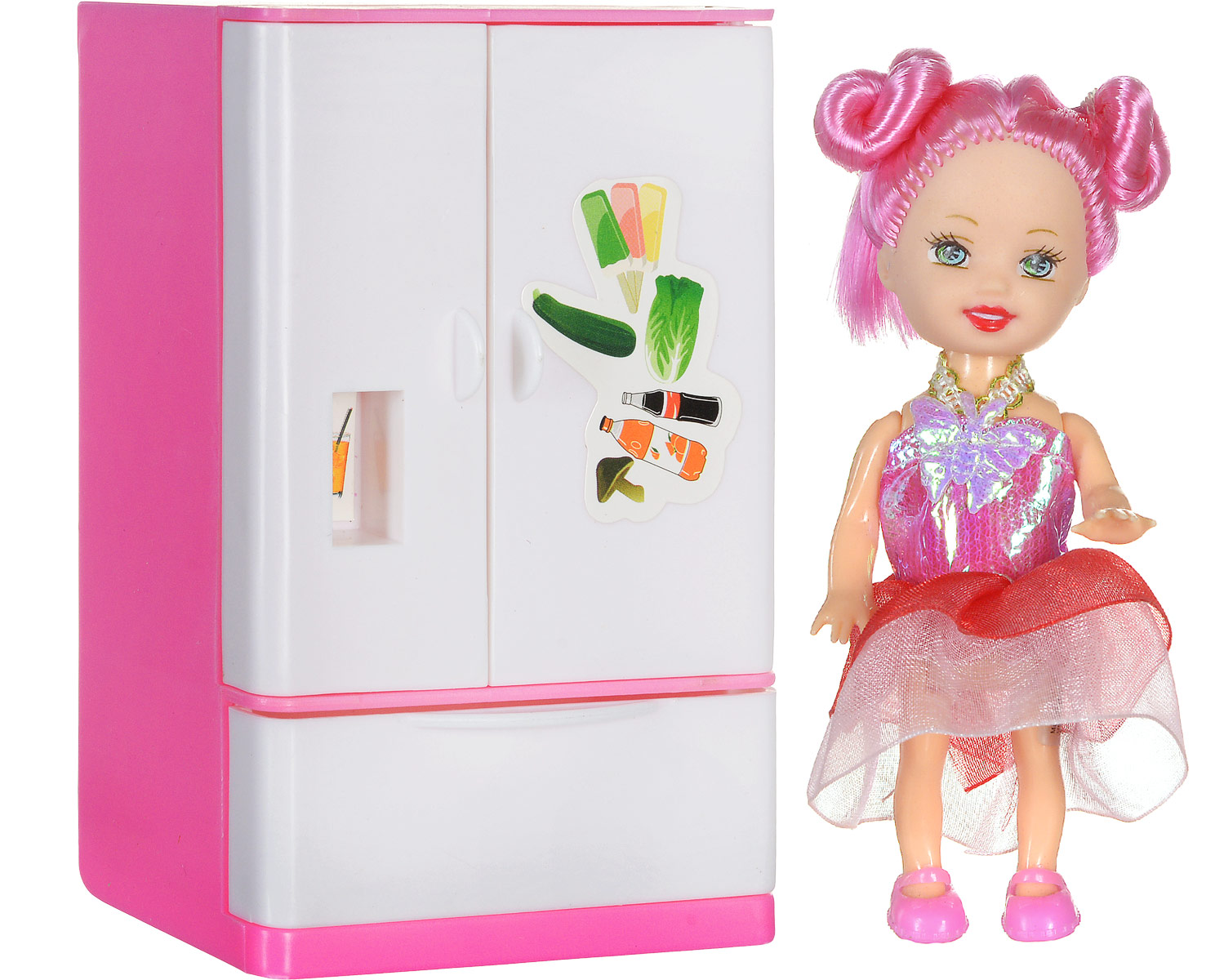 Shantou Мини-кукла Bettina с холодильником