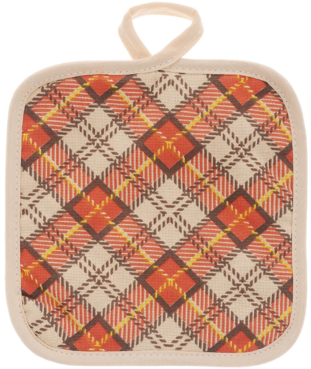 Прихватка Bonita Принц Уэльский, 17 х 17 см1004900000360Прихватка Bonita выполнена из натурального хлопка и декорирована оригинальным рисунком. Изделие оснащено специальной петелькой, за которую его можно подвесить на крючок в любом удобном для вас месте. Такая прихватка красиво дополнит интерьер кухни.