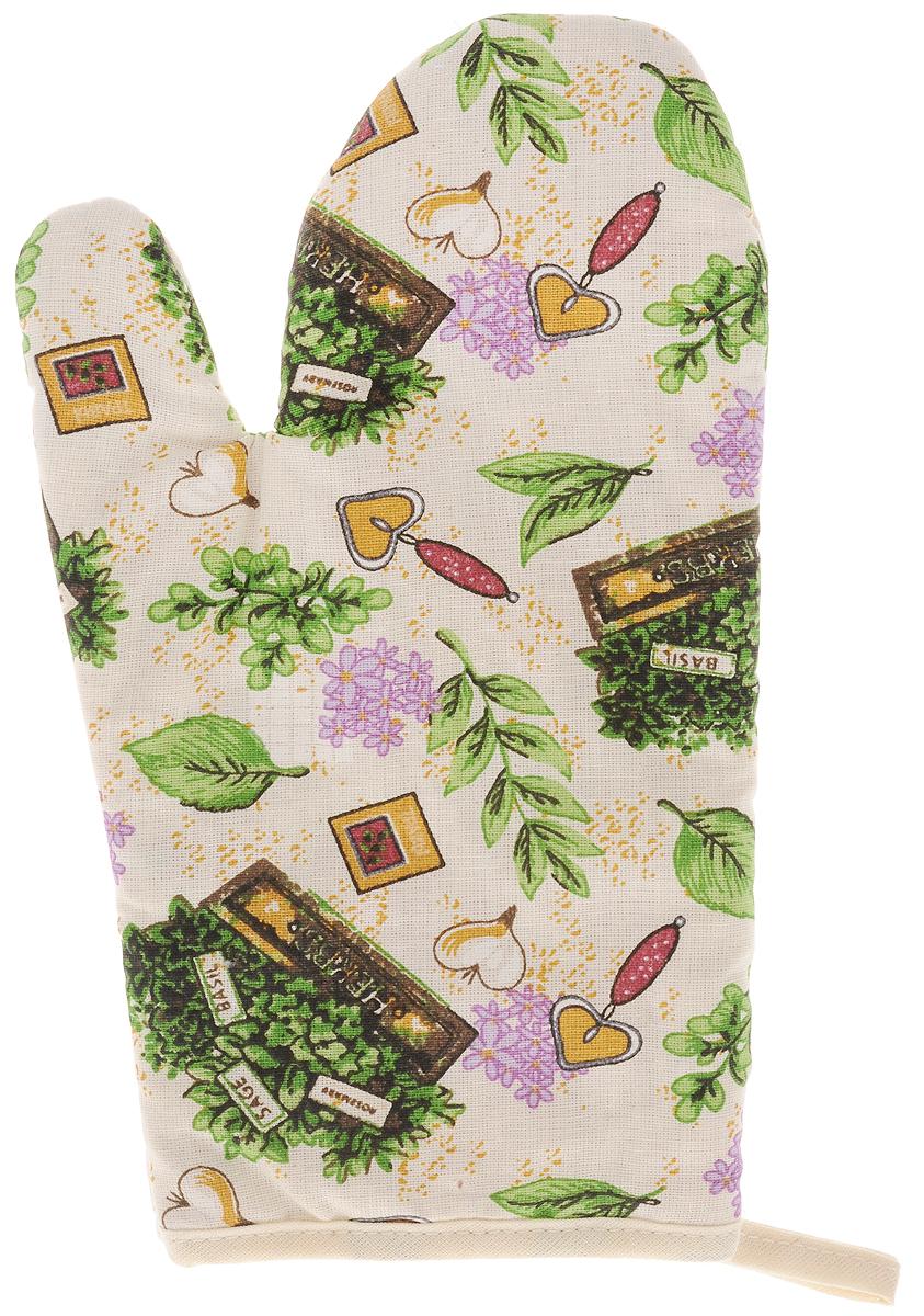 Рукавица Bonita Цветущие травы, 16 х 28 смVT-1520(SR)Прихватка для горячего Bonita, выполненная из натурального хлопка в виде красочной рукавицы, станет украшением любой кухни. С помощью специальной петельки рукавицу можно вешать на крючок. Отличный вариант для практичной и современной хозяйки.