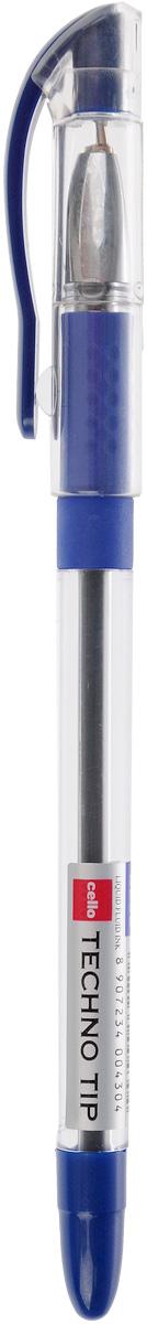 Cello Шариковая ручка Techno tip синяя72523WDШариковая ручка Cello Techno tip - это функциональная и удобная письменная принадлежность, разработанная в Германии, прекрасно подойдет и взрослым, и детям. Ручка имеет прозрачный цилиндрический корпус, который позволяет видеть запас чернил. Она обладает специальной подушечкой для пальцев из антибактериального каучука, которая создает дополнительный комфорт.Стреловидный пишущий узел обеспечивает идеальную тонкую линию письма.