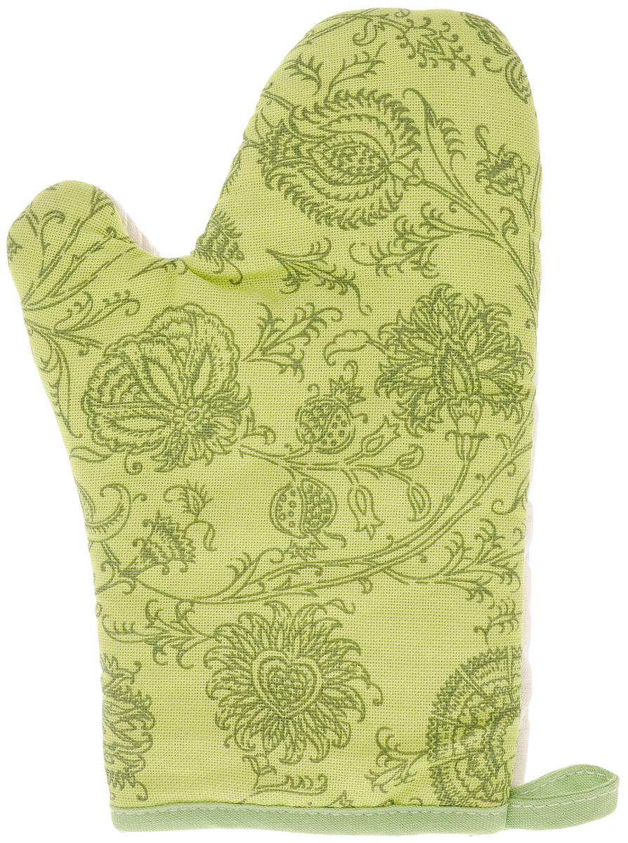Рукавица Bonita Марципан, 18 х 27 смCLP446Прихватка для горячего Bonita, выполненная из натурального хлопка в виде красочной рукавицы, станет украшением любой кухни. С помощью специальной петельки рукавицу можно вешать на крючок. Отличный вариант для практичной и современной хозяйки.