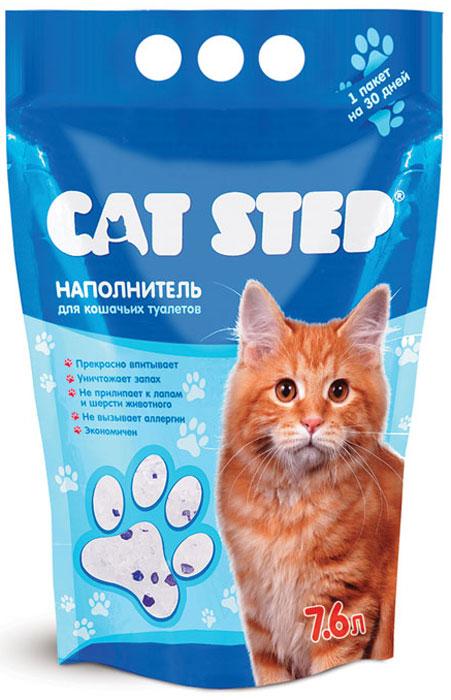 Наполнитель для кошачьего туалета Cat Step, силикагелевый, 7,6 лНК-006Антибактериальный силикагелевый наполнитель для кошачьих туалетов Cat Step обеспечит вашей кошке всегда чистый туалет и устранит неприятный запах. Основные особенности:отлично впитывает,поглощает запах,не ароматизирован,не выделяет пыли,не прилипает к лапам и шерсти животного,не токсичен,экономичен,прост в использовании.Кристаллы наполнителя Cat Step представляют собой коллоидную форму кварца, обладающую уникальными впитывающими способностями. Миллионы микроскопических пор в каждом кристалле наполнителя обеспечивают мгновенное поглощение жидкости и запаха, запирая их внутри. Способ применения:Насыпьте в сухой и чистый туалет наполнитель слоем 3 см. Примерно через четыре недели удалите использованные кристаллы и замените их новой порцией наполнителя. Если у вас две и более кошек, рекомендуется не увеличивать количество наполнителя, а чаще его менять. Регулярно удаляйте твердые испражнения. Если вашей кошке сложно привыкнуть к новому наполнителю, рекомендуем в первый месяц смешивать его с привычным для нее наполнителем в пропорции 1:1, постепенно увеличивая долю Cat Step.Состав: силикагель.Вес: 3,6 кг.Объем: 7,6 л.Товар сертифицирован.