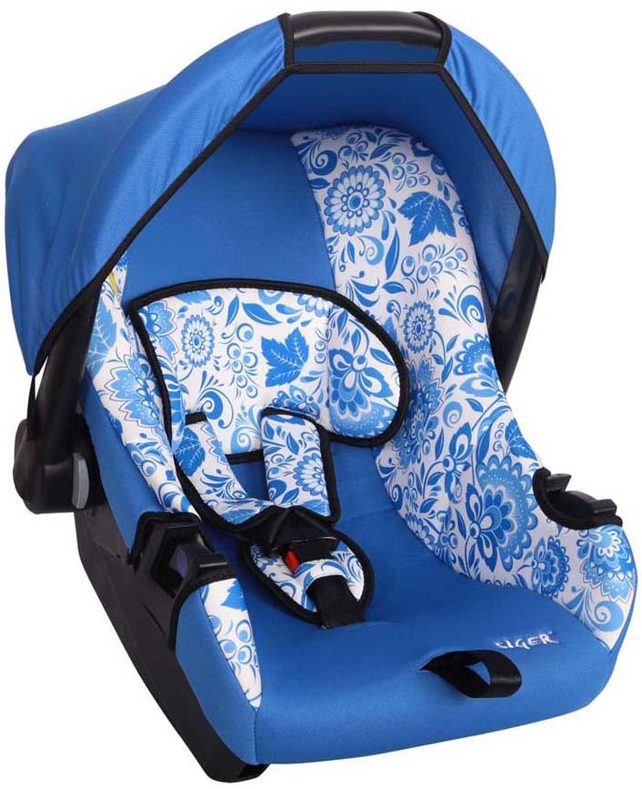 Siger Art Автокресло Эгида ГжельВетерок 2ГФДетское автомобильное кресло Siger «Эгида», для детей от рождения до полутора лет, весом до 13 кг. Относится к возрастной группе 0, 0+.Мягкий вкладыш-подголовник обеспечивает дополнительный комфорт во время поездки. Съемный капюшон защищает ребенка от солнца, а удобная ручка позволяет без лишних усилий переносить ребенка, как в обычной люльке. Ярко выраженная боковая защита позволяет повысить уровень безопасности при боковых ударах.Детские удерживающие устройства Siger разработаны и сделаны в России с учетом анатомии детей. Двухпозиционная регулировка внутренних ремней позволяет адаптировать кресло Siger «Эгида» под зимнюю и летнюю одежду ребенка. Автокресло успешно прошло все необходимые краш-тесты и имеет сертификат соответствия техническому регламенту РФ и таможенному союзу.Автокресло Siger «Эгида» упаковано в защитную полиэтиленовую пленку.