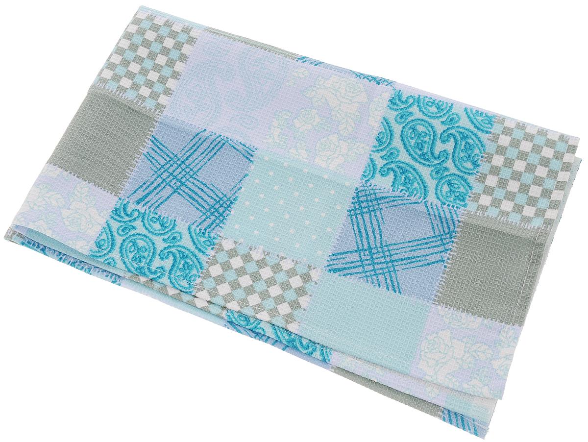Полотенце кухонное Bonita Голубика, цвет: голубой, 45 х 71 смVT-1520(SR)Полотенце кухонное Bonita изготовлено из натурального хлопка и оформлено оригинальным рисунком. Полотенце идеально впитывает влагу и сохраняет свою необычайную мягкость даже после многих стирок. Полотенце Bonita - отличный вариант для практичной и современной хозяйки.