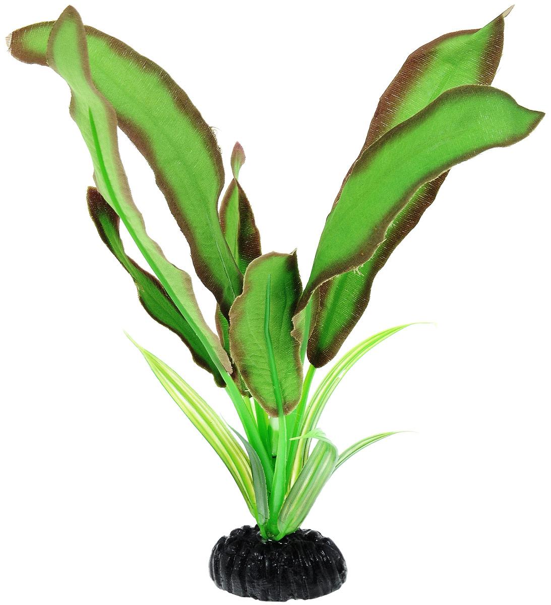 Растение для аквариума Barbus Эхинодорус Бартхи, шелковое, цвет: зеленый, коричневый, высота 20 см0120710Растение для аквариума Barbus Эхинодорус Бартхи, выполненное из высококачественного нетоксичного пластика и шелка, станет прекрасным украшением вашего аквариума. Шелковое растение идеально подходит для дизайна всех видов аквариумов. В воде происходит абсолютная имитация живых растений. Изделие не требует дополнительного ухода и просто в применении.Растение абсолютно безопасно, нейтрально к водному балансу, устойчиво к истиранию краски, подходит как для пресноводного, так и для морского аквариума. Растение для аквариума Barbus Эхинодорус Бартхи поможет вам смоделировать потрясающий пейзаж на дне вашего аквариума или террариума.