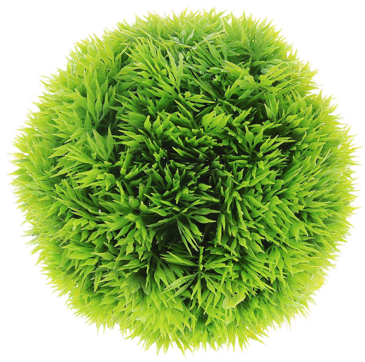 Растение для аквариума Barbus Шар, пластиковое, диаметр 12 см0120710Растение для аквариума Barbus Шар, выполненное из высококачественного нетоксичного пластика, является идеальным укрытием для мальков и станет прекрасным украшением вашего аквариума. Пластиковое растение идеально подходит для дизайна всех видов аквариумов. В воде происходит абсолютная имитация живых растений. Изделие не требует дополнительного ухода и просто в применении. Растение абсолютно безопасно, нейтрально к водному балансу, устойчиво к истиранию краски, подходит как для пресноводного, так и для морского аквариума. Растение для аквариума Barbus Шар поможет вам смоделировать потрясающий пейзаж на дне вашего аквариума или террариума.