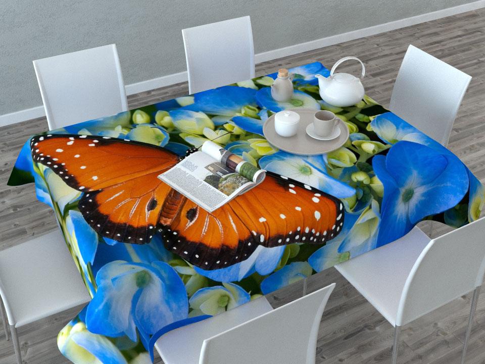 Скатерть Сирень Бабочка в цветах, прямоугольная, 145 x 120 смVT-1520(SR)Прямоугольная скатерть Сирень Бабочка в цветах с ярким и объемным рисунком, выполненная из габардина, преобразит вашу кухню, визуально расширит пространство, создаст атмосферу радости и комфорта. Рекомендации по уходу: стирка при 30 градусах, гладить при температуре до 110 градусов.Размер скатерти: 145 х 200 см. Изображение может немного отличаться от реального.