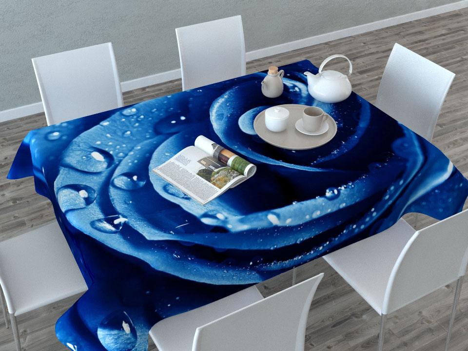 Скатерть Сирень Синяя роза, прямоугольная, 145 x 120 см87517Прямоугольная скатерть Сирень Синяя роза с ярким и объемным рисунком, выполненная из габардина, преобразит вашу кухню, визуально расширит пространство, создаст атмосферу радости и комфорта. Рекомендации по уходу: стирка при 30 градусах, гладить при температуре до 110 градусов.Размер скатерти: 145 х 120 см. Изображение может немного отличаться от реального.