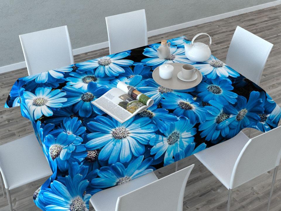 Скатерть Сирень Букет из голубых цветов, прямоугольная, 145 x 120 см1004900000360Прямоугольная скатерть Сирень Букет из голубых цветов с ярким и объемным рисунком, выполненная из габардина, преобразит вашу кухню, визуально расширит пространство, создаст атмосферу радости и комфорта. Рекомендации по уходу: стирка при 30 градусах, гладить при температуре до 110 градусов.Размер скатерти: 145 х 120 см. Изображение может немного отличаться от реального.