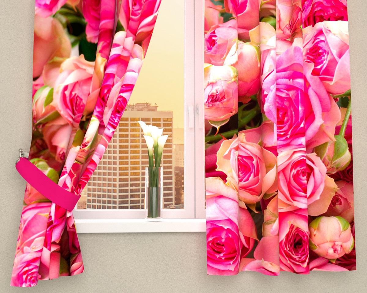 Комплект фотоштор Сирень Россыпь роз, на ленте, высота 160 смS03301004Фотошторы для кухни Сирень Россыпь роз, выполненные из габардина (100% полиэстера), отлично дополнят украшение любого интерьера. Особенностью ткани габардин является небольшая плотность, из-за чего ткань хорошо пропускает воздух и солнечный свет. Ткань хорошо держит форму, не требует специального ухода. Крепление на карниз при помощи шторной ленты на крючки. В комплекте 2 шторы. Ширина одного полотна: 145 см.Высота штор: 160 см.Рекомендации по уходу: стирка при 30 градусах, гладить при температуре до 110 градусов.Изображение на мониторе может немного отличаться от реального.Подхваты в комплект не входят.