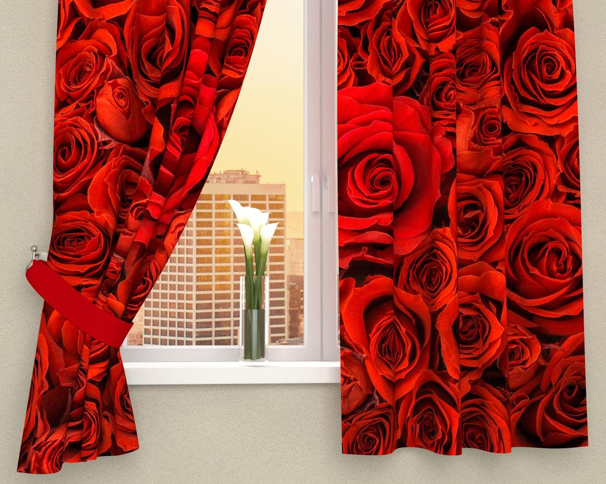 Комплект фотоштор Сирень Алые розы, на ленте, высота 160 смDW90Фотошторы для кухни Сирень Алые розы, выполненные из габардина (100% полиэстера), отлично дополнят украшение любого интерьера. Особенностью ткани габардин является небольшая плотность, из-за чего ткань хорошо пропускает воздух и солнечный свет. Ткань хорошо держит форму, не требует специального ухода. Крепление на карниз при помощи шторной ленты на крючки.В комплекте 2 шторы. Ширина одного полотна: 145 см.Высота штор: 160 см.Рекомендации по уходу: стирка при 30 градусах, гладить при температуре до 110 градусов.Изображение на мониторе может немного отличаться от реального.Подхваты в комплект не входят.