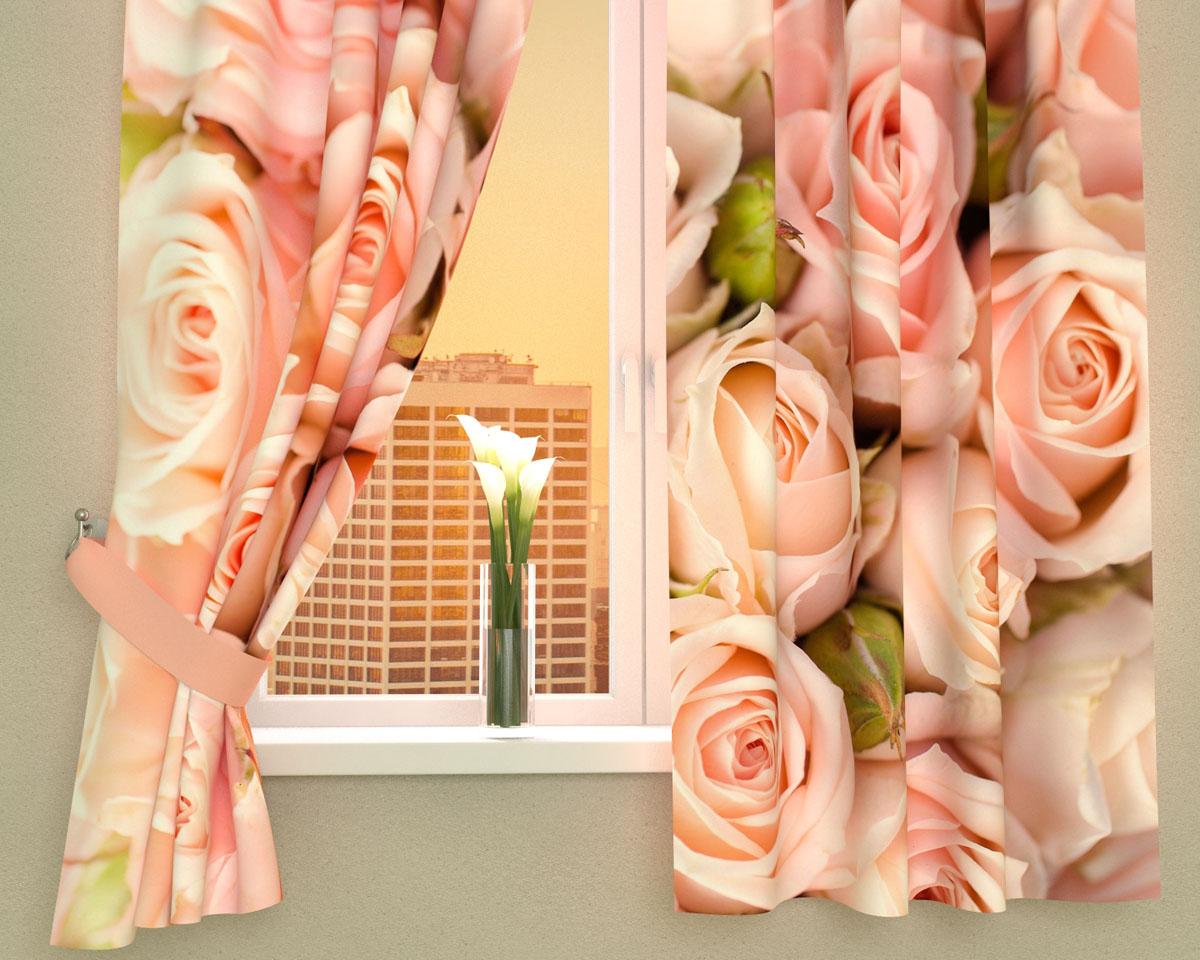 Комплект фотоштор Сирень Молодые розы, на ленте, высота 160 смBH-UN0502( R)Фотошторы для кухни Сирень Молодые розы, выполненные из габардина (100% полиэстера), отлично дополнят украшение любого интерьера. Особенностью ткани габардин является небольшая плотность, из-за чего ткань хорошо пропускает воздух и солнечный свет. Ткань хорошо держит форму, не требует специального ухода. Крепление на карниз при помощи шторной ленты на крючки. В комплекте 2 шторы. Ширина одного полотна: 145 см.Высота штор: 160 см.Рекомендации по уходу: стирка при 30 градусах, гладить при температуре до 110 градусов.Изображение на мониторе может немного отличаться от реального.Подхваты в комплект не входят.